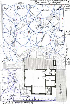 План участка под автоматический полив